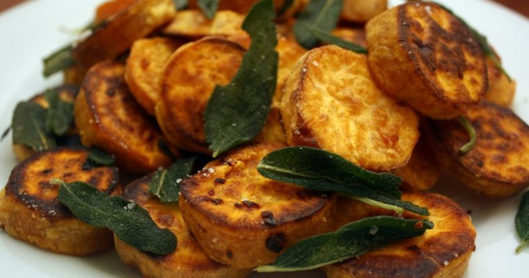 Grilled New Potatoes with Dry and Fresh Sage